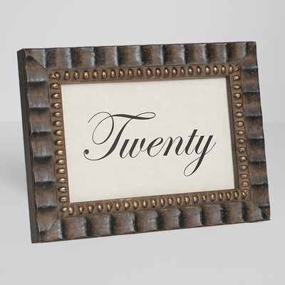 Tuscan Ornate Wooden Table Number Frame - Bronze
