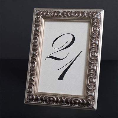Vienna Ornate Wooden Information Frame - Silver