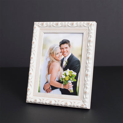 Vintage Wedding White Ornate Wooden Information Frame
