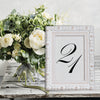 Vintage Wedding White Ornate Wooden Table Number Frame
