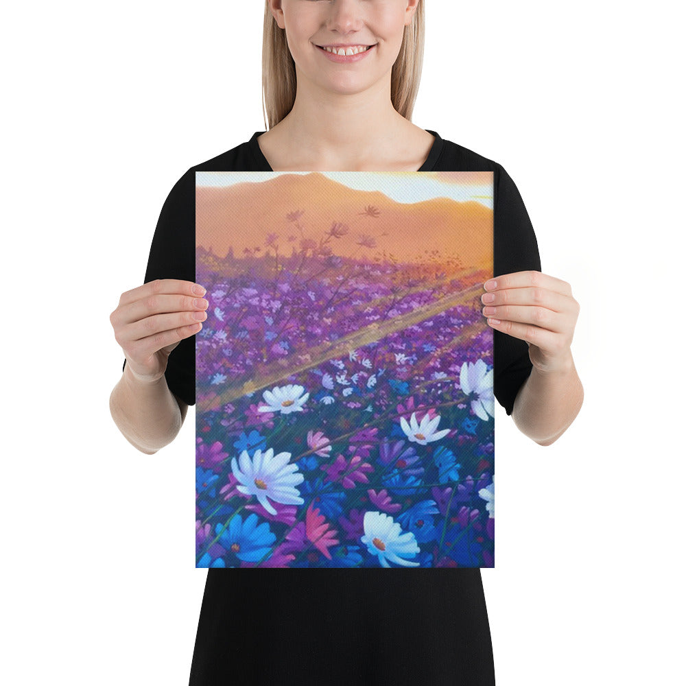 Sunrise Blossom Canvas Print - Left Side