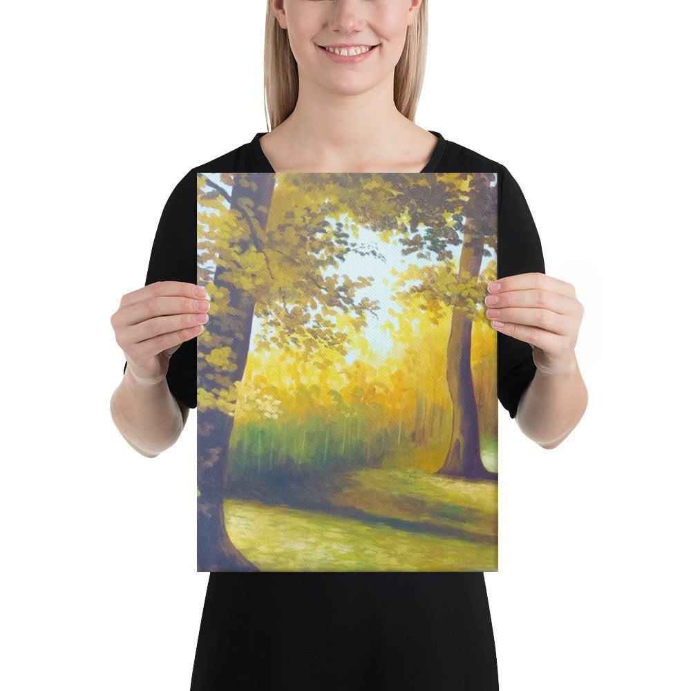 Autumnal Road Canvas Print - Left Side