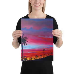 Sunset Cocora Park Canvas Print - Right Side