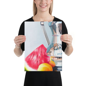 Silver Jug Canvas Print - Left Side
