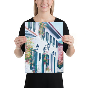 Cobblestone Street Canvas Print - Left Side
