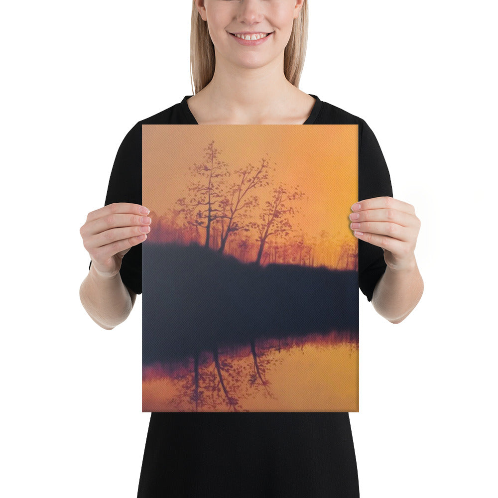 Ducks at Sunset Canvas Print - Left Side