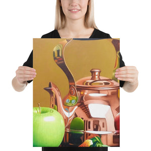 Bronze Teapot and Sugar Bowl Canvas Print - Middle