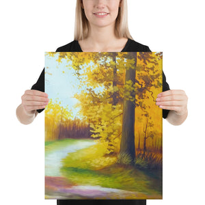 Autumnal Road Canvas Print - Middle