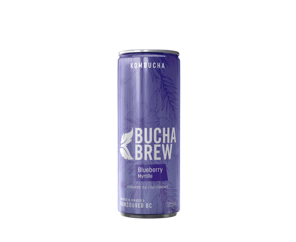 Blueberry Kombucha, case of 12x355ml
