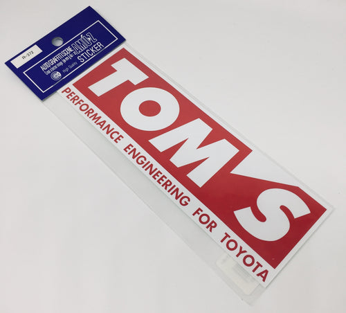 Authentic Licences TOM'S Racing Sticker