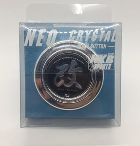 "Neo Crystal HKB ""beat the road"" Horn Button (Chrome)"