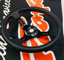 G-Corporation 330mm O.D Deep Off Set Steering Wheel With Red Stitching