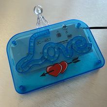 LED Love Call Light, Cursive Letters (Clear Blue)