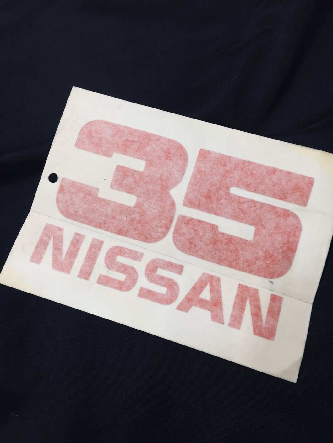 Nissan 35th Z Car Anniversary Sticker Orange