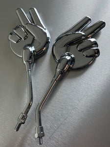 Chrome Scissors Mirrors, left and right side