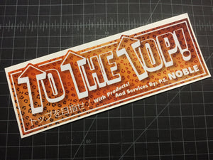 """To The Top"" Pro Shop Noble sticker cheetah print"