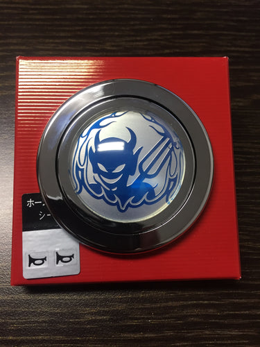 Blue Devil Horn Button