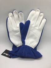 FET 3D Light Weight Racing Gloves Blue And White, Extra Large