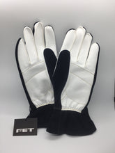 New FET 3D Light Weight Racing Gloves Black And White, Medium