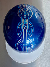 Hand Pinstriped New Blue Metallic Classic Japanese Style Helmet Large