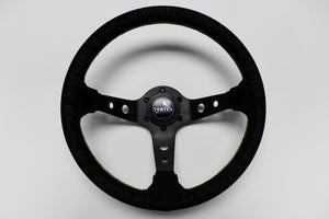 "Vertex ""King"" 330mm Steering Wheel in Black Suede"