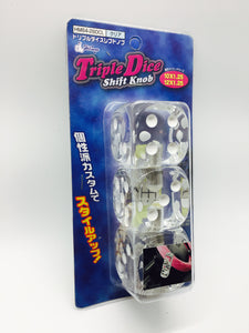 Hitman Triple Dice Shift Knob Transparent Clear