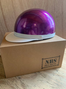 Small Purple Metal Flake NBS Japan Helmet