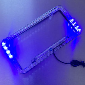 Disco License Plate Frame (Blue)