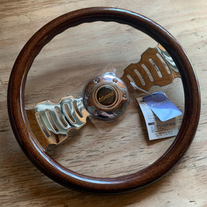 M'sport MX-15 Gritter Steering wheel - 350mm Dark Wood