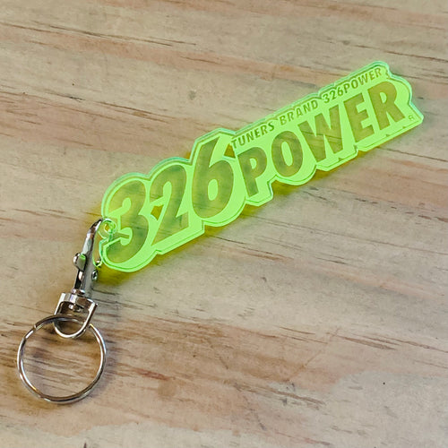 326Power Acrylic Key Chain ~ Yellow