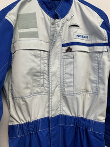 Used Nissan Blue Stage Work Suit ~ L