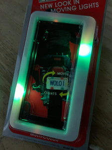 WOLO NIGHT LIGHTER LED License Plate Frame For Motorcycle & Scooters