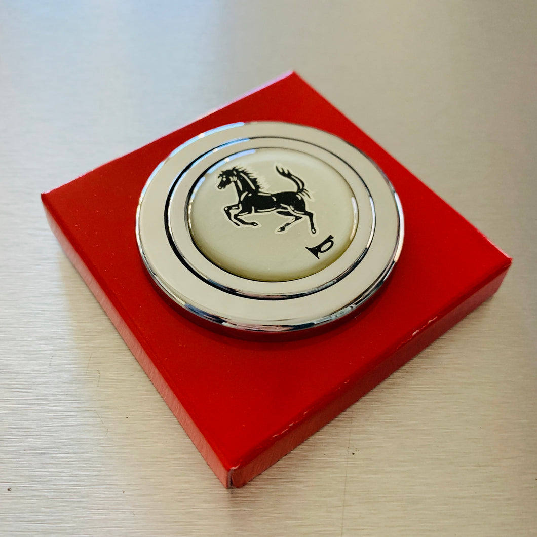 Daikei Chrome Horse Horn Button