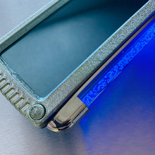 Blue Bubble Mood light Rear Wide View Mirror - Green With Blue Glass