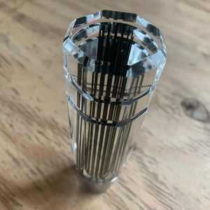 MAD MAX Crystal Clear & Black Pinstriped Shift Knob