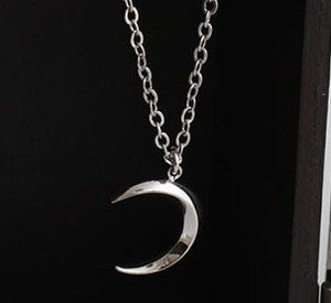 Waning Crescent Moon Chain Necklace