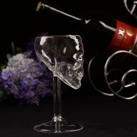 Skull Crystal Wine Glass