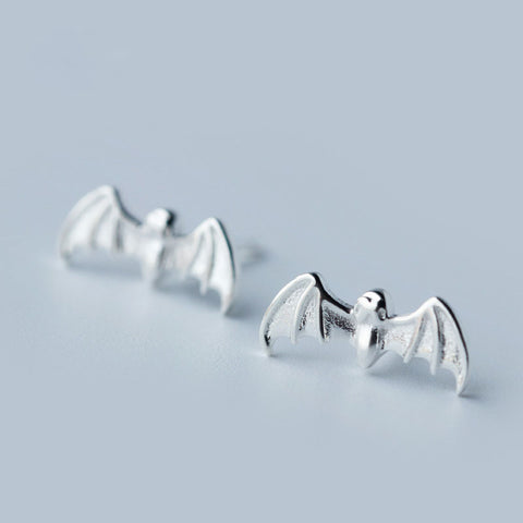 Trendy Silver Plated Bat Earrings ***Limited Supply***