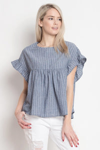Ruffle Sleeve Top - The Lovely Fashion