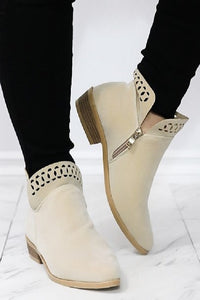 Tulip Ankle Booties - The Lovely Fashion