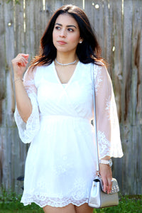 White Lace Dress - The Lovely Fashion