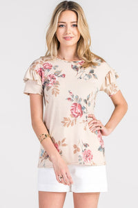 Pretty In Floral Top - The Lovely Fashion