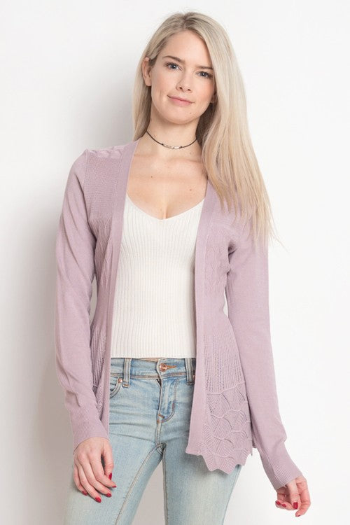 The Perfect Lilac Cardigan - The Lovely Fashion