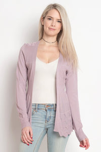 The Perfect Lilac Cardigan