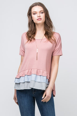 Ruffle Me Up Top - The Lovely Fashion