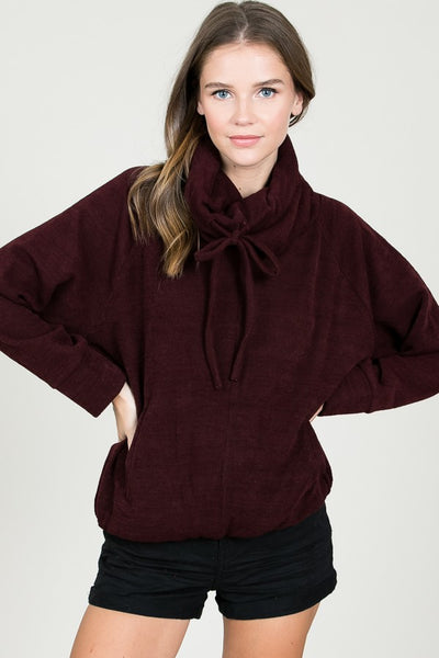 Cozy Bow Pullover Sweater