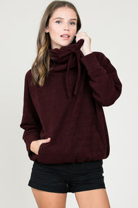 Cozy Bow Pullover Sweater - The Lovely Fashion