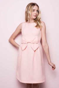 Pretty In Peach Bow Dress - The Lovely Fashion