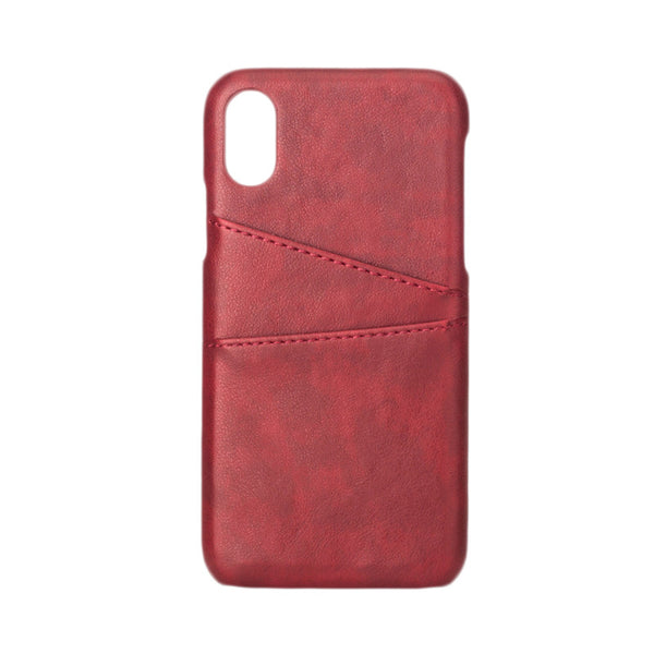 Leather-Style Pocket Case for iPhone 8 - Brown, Black, Red
