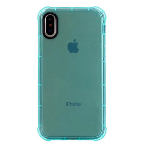 Shockproof Soft Rubber Armor Case for iPhone X - Multiple Colors